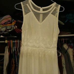 White lace maxi with sheer areas